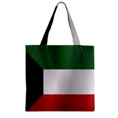 Flag Of Kuwait Zipper Grocery Tote Bag by artpics