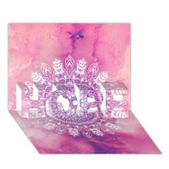 Pink Watercolour Mandala Hope 3d Greeting Card (7x5) by TanyaDraws