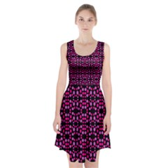 Dots Pattern Pink Racerback Midi Dress by BrightVibesDesign