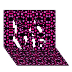 Dots Pattern Pink Love 3d Greeting Card (7x5) by BrightVibesDesign