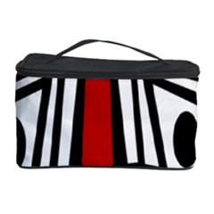 African red mask Cosmetic Storage Case by Valentinaart