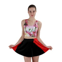 Red And Black Abstract Design Mini Skirt by Valentinaart