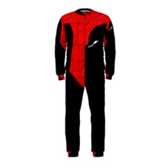 Red And Black Abstract Design Onepiece Jumpsuit (kids) by Valentinaart