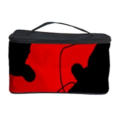 Black And Red Lizard  Cosmetic Storage Case by Valentinaart