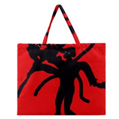 Abstract Man Zipper Large Tote Bag by Valentinaart
