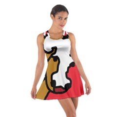 Artistic cow Cotton Racerback Dress by Valentinaart