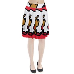 Artistic cow Pleated Skirt