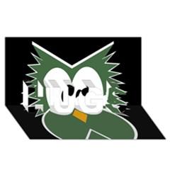Green Owl Hugs 3d Greeting Card (8x4) by Valentinaart