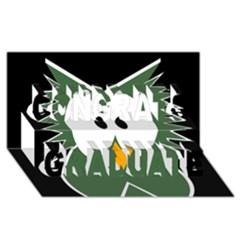 Green Owl Congrats Graduate 3d Greeting Card (8x4)