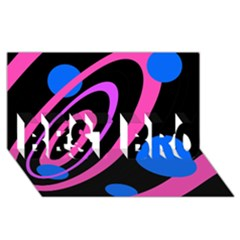 Pink And Blue Twist Best Bro 3d Greeting Card (8x4)