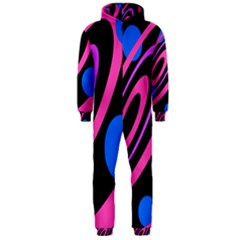 Pink and blue twist Hooded Jumpsuit (Men)  by Valentinaart