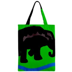 Elephand Zipper Classic Tote Bag by Valentinaart