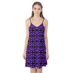 Dots Pattern Purple Camis Nightgown by BrightVibesDesign