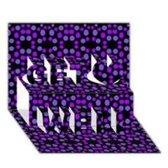 Dots Pattern Purple Get Well 3d Greeting Card (7x5) by BrightVibesDesign