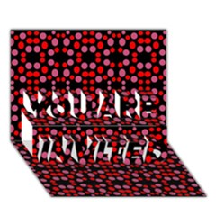 Dots Pattern Red You Are Invited 3d Greeting Card (7x5) by BrightVibesDesign
