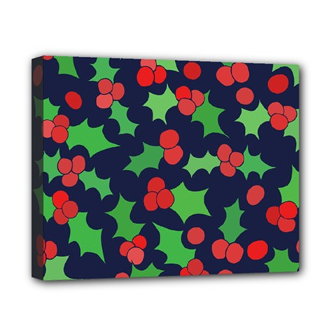 Holly Jolly Christmas Canvas 10  X 8  by BubbSnugg