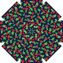 Holly Jolly Christmas Straight Umbrellas