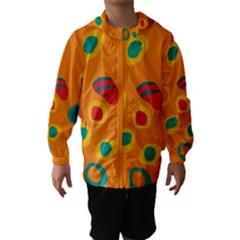 Orange Abstraction Hooded Wind Breaker (kids) by Valentinaart