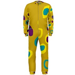 Yellow Abstraction Onepiece Jumpsuit (men)  by Valentinaart