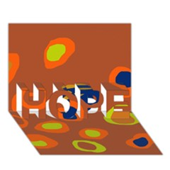 Orange Abstraction Hope 3d Greeting Card (7x5) by Valentinaart