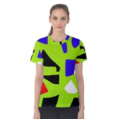 Green Abstraction Women s Cotton Tee by Valentinaart
