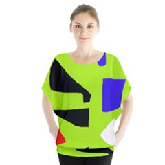 Green Abstraction Blouse by Valentinaart