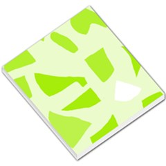 Green abstract design Small Memo Pads by Valentinaart