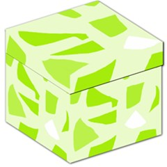 Green Abstract Design Storage Stool 12   by Valentinaart