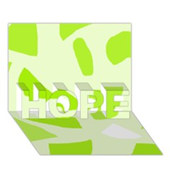 Green Abstract Design Hope 3d Greeting Card (7x5) by Valentinaart