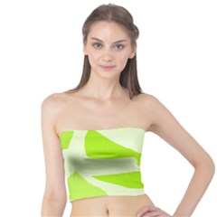 Green Abstract Design Tube Top by Valentinaart