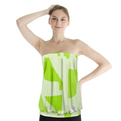 Green Abstract Design Strapless Top by Valentinaart