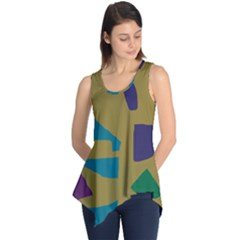 Colorful Abstraction Sleeveless Tunic by Valentinaart