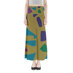Colorful Abstraction Maxi Skirts by Valentinaart