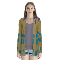 Colorful Abstraction Drape Collar Cardigan by Valentinaart