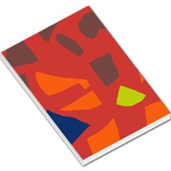 Red Abstraction Large Memo Pads by Valentinaart