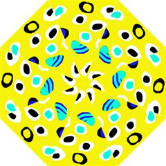Yellow Abstract Pattern Hook Handle Umbrellas (large) by Valentinaart