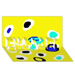 Yellow Abstract Pattern Engaged 3d Greeting Card (8x4) by Valentinaart