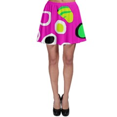 Pink Abstract Pattern Skater Skirt by Valentinaart