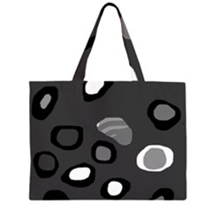 Gray abstract pattern Large Tote Bag by Valentinaart