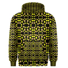 Dots Pattern Yellow Men s Pullover Hoodie by BrightVibesDesign