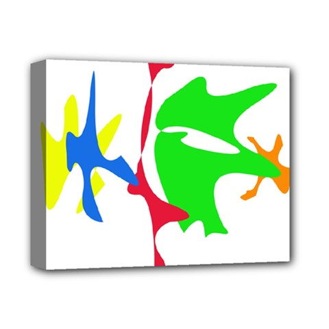 Colorful Amoeba Abstraction Deluxe Canvas 14  X 11  by Valentinaart