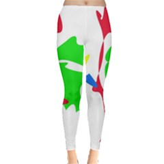 Colorful Amoeba Abstraction Leggings  by Valentinaart