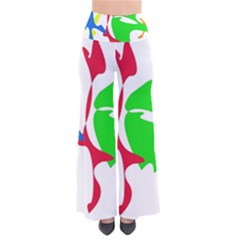 Colorful Amoeba Abstraction Pants by Valentinaart