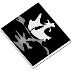 Black And White Amoeba Abstraction Small Memo Pads by Valentinaart