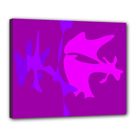 Purple, Pink And Magenta Amoeba Abstraction Canvas 20  X 16  by Valentinaart
