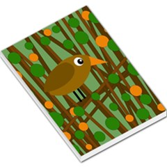 Brown Bird Large Memo Pads by Valentinaart