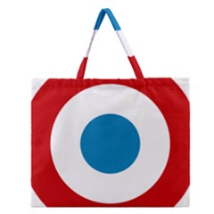 Roundel of the French Air Force  Zipper Large Tote Bag by abbeyz71