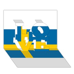 Flag Of Sweden Love 3d Greeting Card (7x5) by abbeyz71