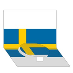 Flag Of Sweden Circle Bottom 3d Greeting Card (7x5)