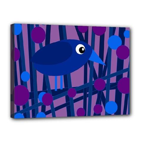Purple Bird Canvas 16  X 12  by Valentinaart